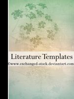 Floral Literature Templates by exchanged-stock