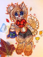Autumn play~ by MoonlightMalaise