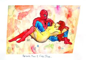Com: Spiderman X Firestar by HeavenlyCondemned