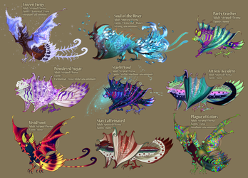 [CLOSED - Raffle] Second tier - more flyenas! :D by FlyingCarpets