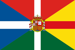 Flag of Iberia with CoA by hosmich