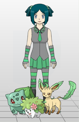 My new pokemon trainer, Hope by Articunochick1993