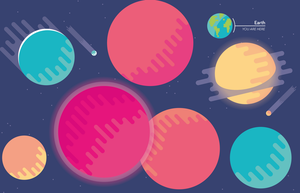 Vibrant Planets by MikeMovies