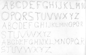 Attempts at lettering by dracontes