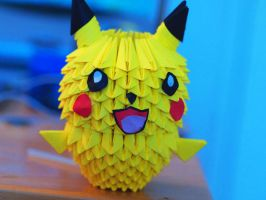 3D Origami - Pikachu by gracy2227