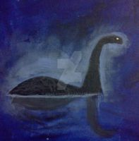 My Painting of Nessie by Gojilion91