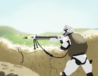 Support trooper sketch by dropL05