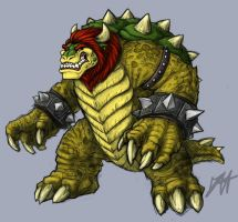 Bowser (now with color) by Trollfeetwalker