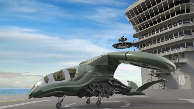 Dragonfly VTOL on Deck by storm-bunny