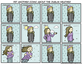 Yet another comic about Dublin Weather by diabledoux
