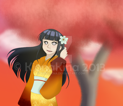 Hinata in the Fall by KionaKina