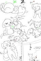 Chilli Vore Doodles (Post Park Meal) by PingTheHungryFox
