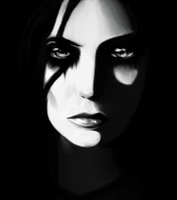 A face in the darkness by Lyssic