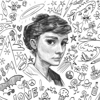 Audrey doodle by KendallHaleArt