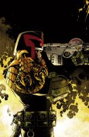 Judge Dredd cover #4 color by nelsondaniel