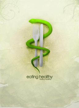 eating healthy by fake-x