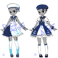 Adoptable : Simple Sailor Lolita Outfits [CLOSED] by ZylenXia