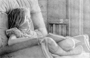 Girl Dreaming, pencil by hank1