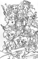 [ClassicaLoid] Meet the Composers (lineart) by BlackHayate02