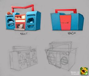 Monster Life - Items - Ghetto Blaster by joslin