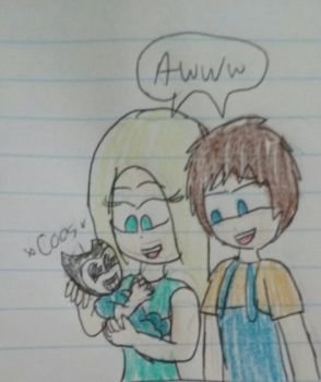 Lucy, Justin and baby Sammy  by Mariascurra