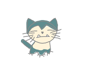 CAT SNORLAX by HELLOILIKECATS