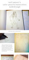 Color pencils - watercolors walkthrough by wolf-minori