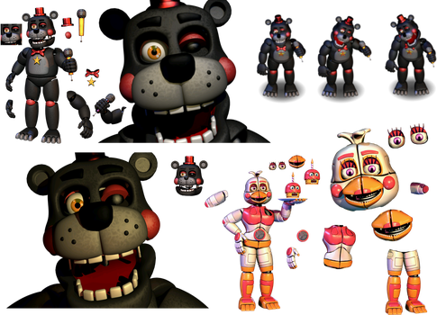 Resource Lefty and Funtime Chica (Reguest) by Fnaf-fan201