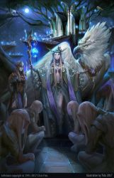 The Moonlit Light Elven Palace by Pearlpencil