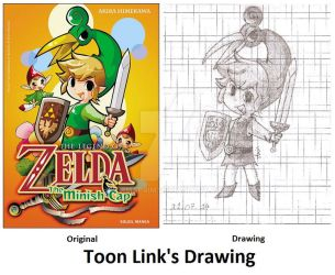 Toon Link's Drawing by Firmaprim