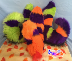 (SOLD) Sparkly Halloween Themed Fursuit Tails by TECHNlCOLOUR
