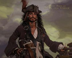 Johnny Depp as  Jack Sparrow by iricolor