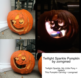 Twilight Sparkle Pumpkin Carving by zomgmad