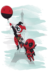 Deadpool and Harley Quinn by jmascia
