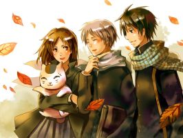 Natsume and his friends by sdPink