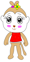 Mary monkey Animal crossing style by benthecutesquirrel