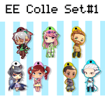EE: Eclair Express Chibi Colle Set #1 by Antares25