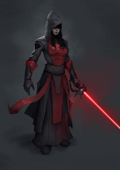 Commission: Sith Lady by VincentiusMatthew