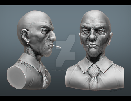 Old man Zbrush by SaephireArt