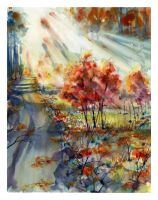 Autumn Radiance by SALTWatercolors