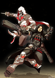 OW - Reaper and Ezio by oNichaN-xD