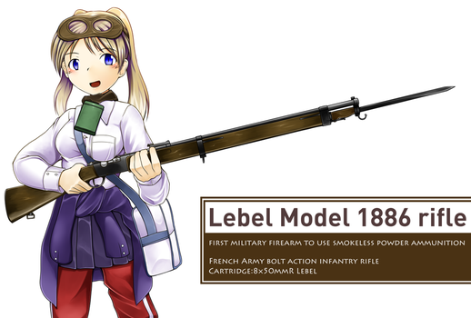combat high school girl 1918 [Lebel M1886 rifle] by deadpeople97