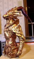 Dark Souls Ornstein statue by futantshadow
