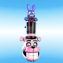 Stylized Funtime Freddy wip by TheBoofster