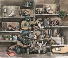 The Caretakers In The Pet Shop by Fradga