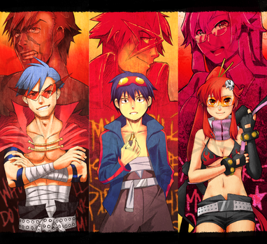 TTGL bookmark set one by Sailys
