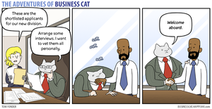 The Adventures of Business Cat - Inspection by tomfonder