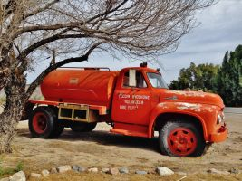 Orange Retired Fire Truck by AthenaIce