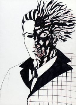 TWO-FACE SKETCH IV by Cuestionador