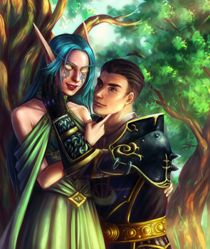 Commission : A Man and An Elf by ForeverMedhok